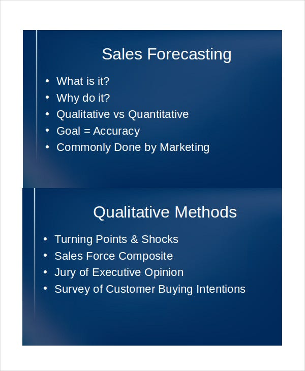 sales forecast presentation template1