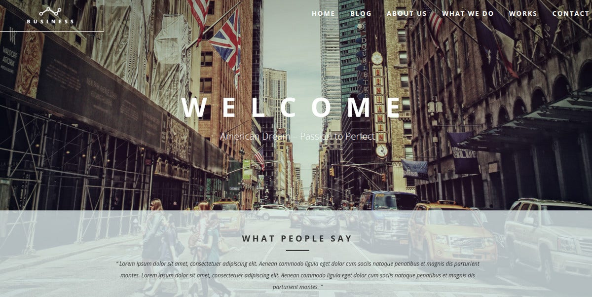 business agency one page landing page wp theme 29