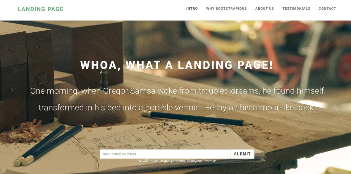 Fully Responsive One Page Landing Page Theme