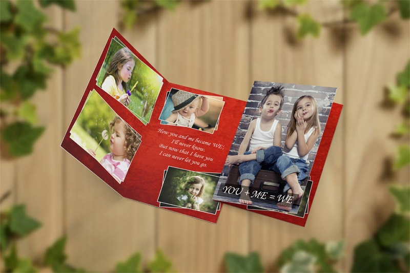 beautiful kids greeting card design
