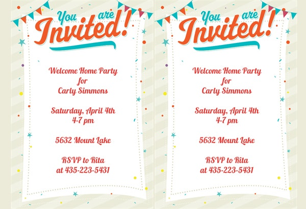 Printable Invitation Free Template Design