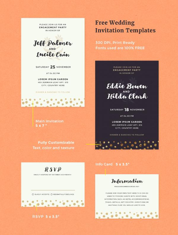 Free Wedding Invitation Template Design