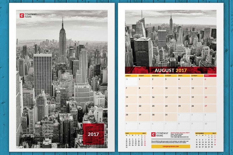 wall-calendars-with-buildings-background