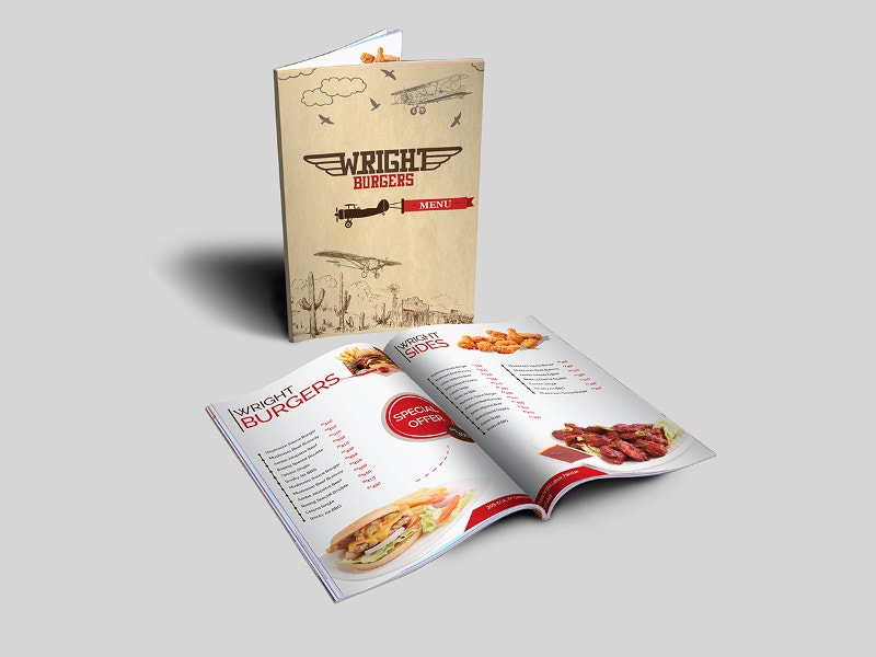 branding restaurant menu design