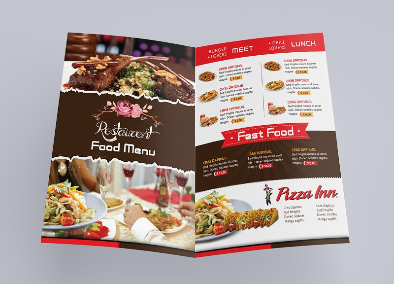 graphic design restaurent food menu
