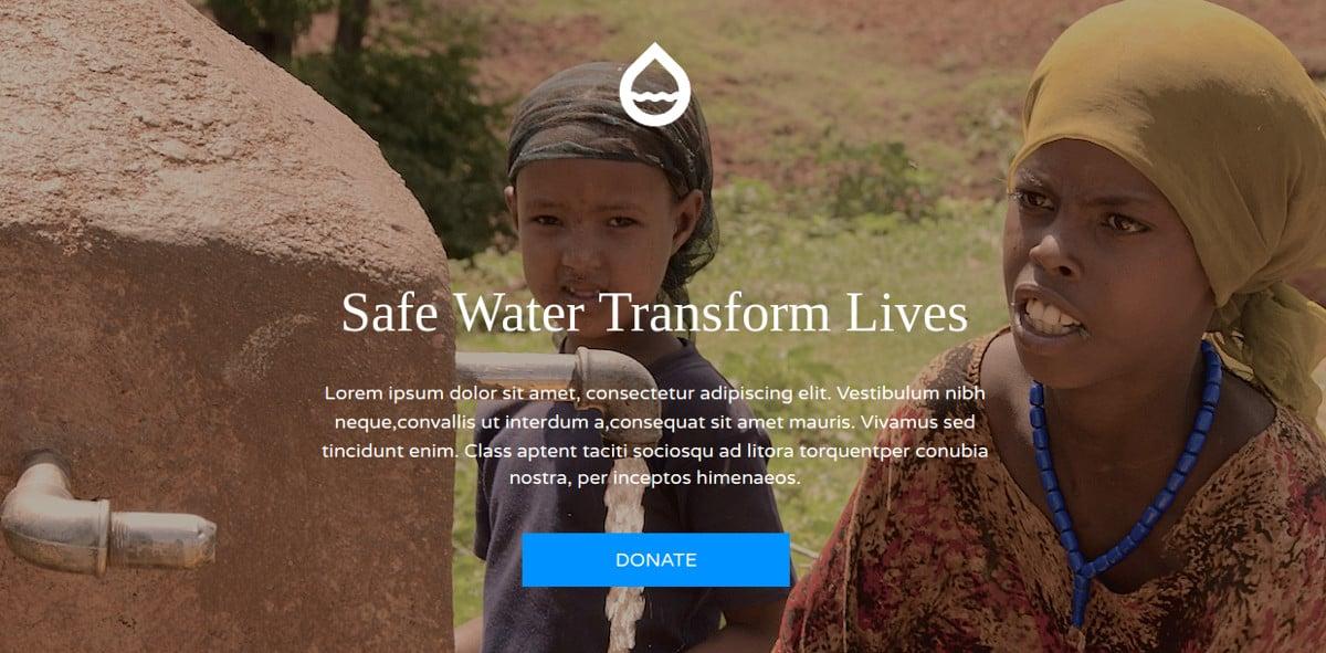 Non Profit & Donation Landing Page Theme $18