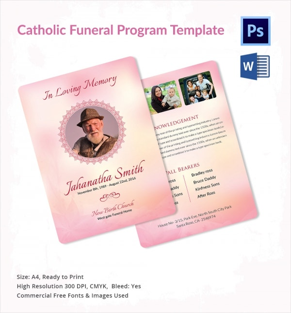 Catholic Funeral Template