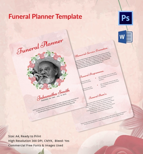 Customizable Funeral Planner Template