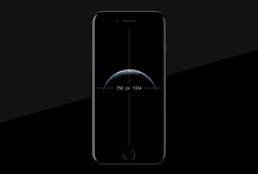 branding iphone 7 black free psd mockup