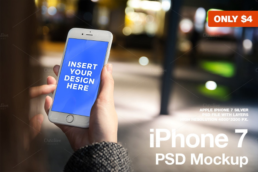 graphic design iphone 7 psd mockup