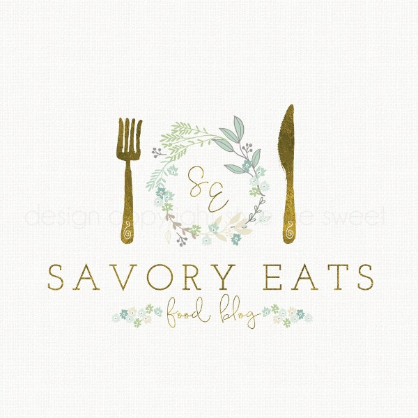 Food Blog Logo Restaurant