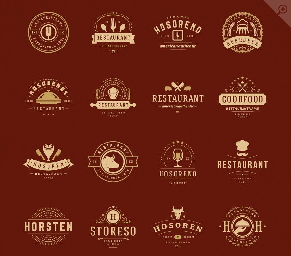 Restaurant Logotypes and Badges