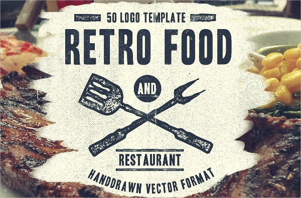 Retro Food Restaurant Logo