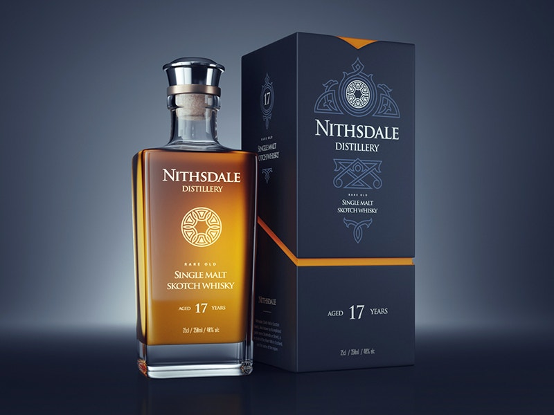 alcohol packaging design by nithsdale distillery