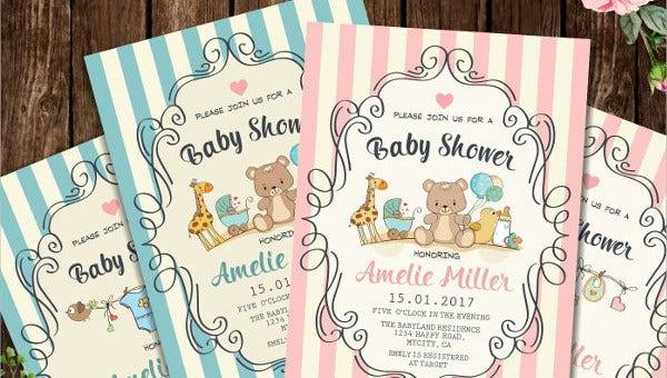 19 Baby Shower Cards Free Psd Vector Ai Eps Format Free Premium Templates