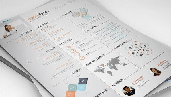 18 Infographic Resumes Free Psd Vector Ai Eps Format Download