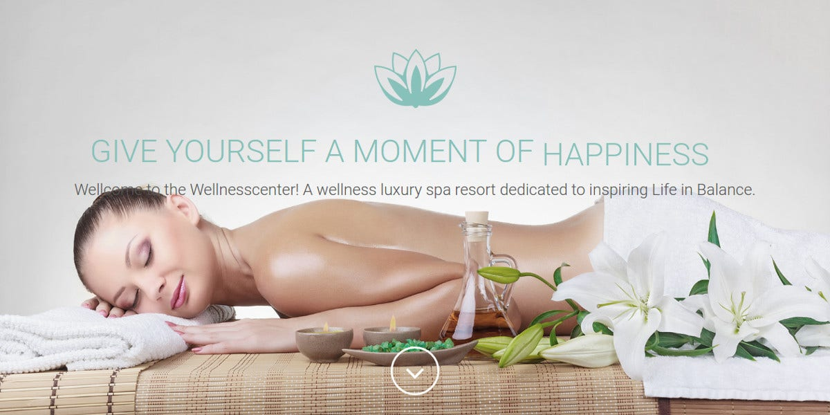 Spa & Massage Landing Page Theme $13