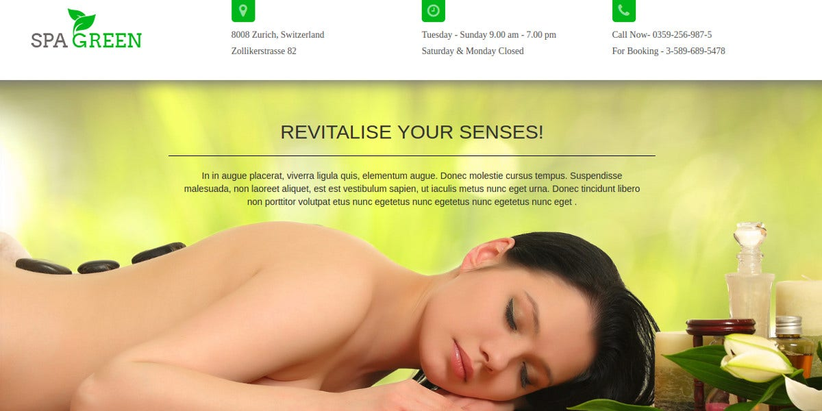 Landing Page Design Theme for Beauty Salon & Spa