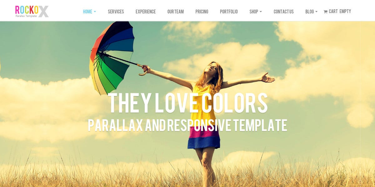 Creative Web Design Studio Parallax Joomla Template $43
