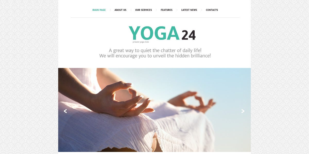 Yoga & Fitness Studio Joomla Template $53