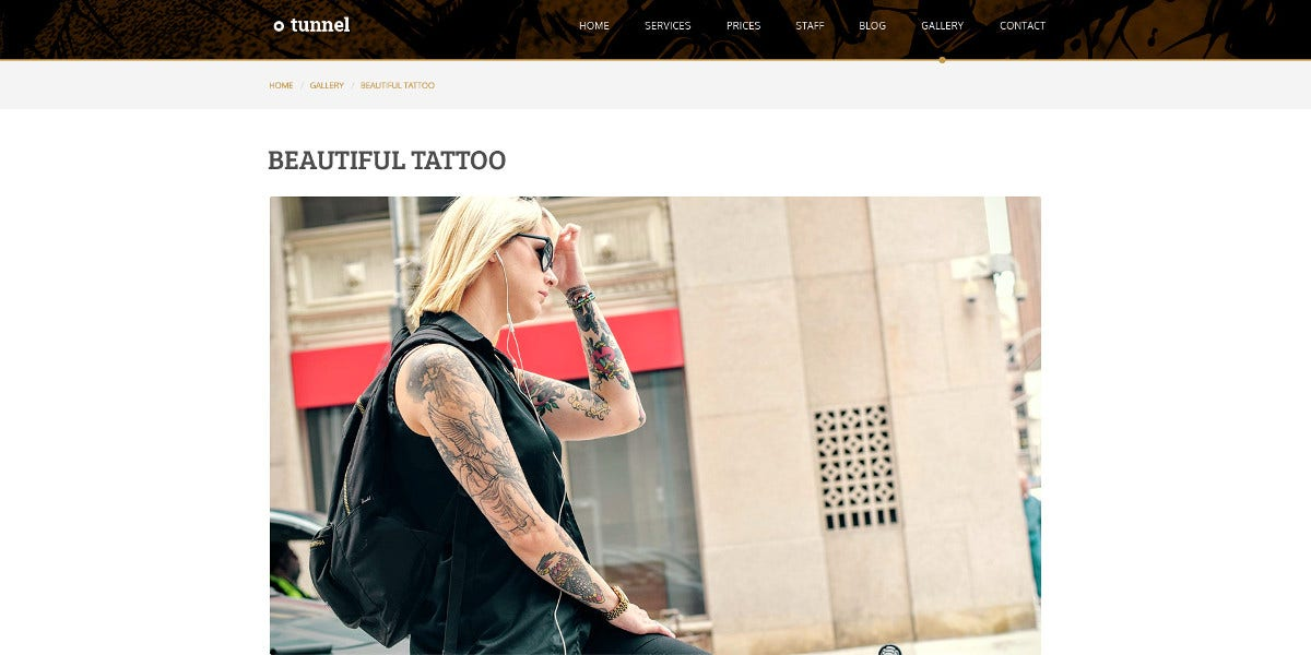 Modern Tattoo Studio Joomla Template $18