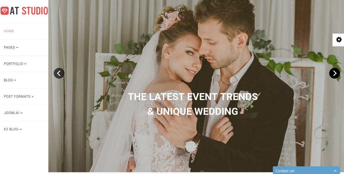 Wedding Studio Joomla Template $19