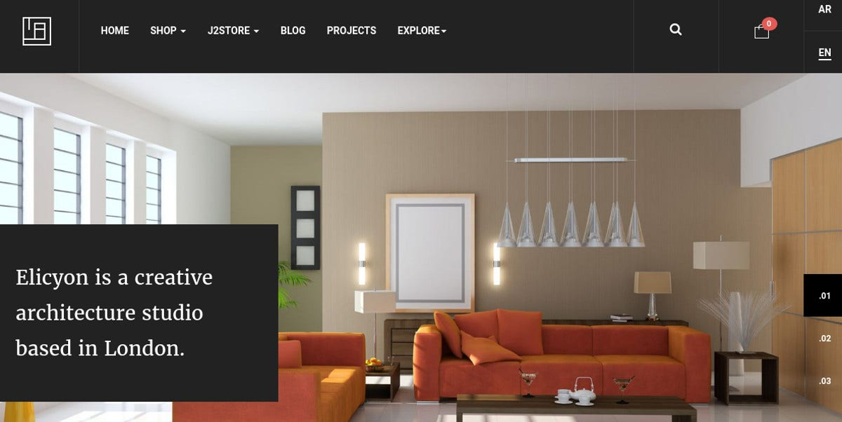 Interior Design Studio Joomla Template