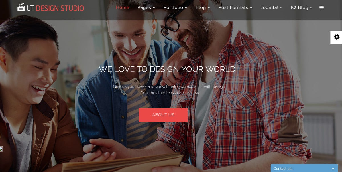 Modern Advertising Agency Design Studio Joomla Template
