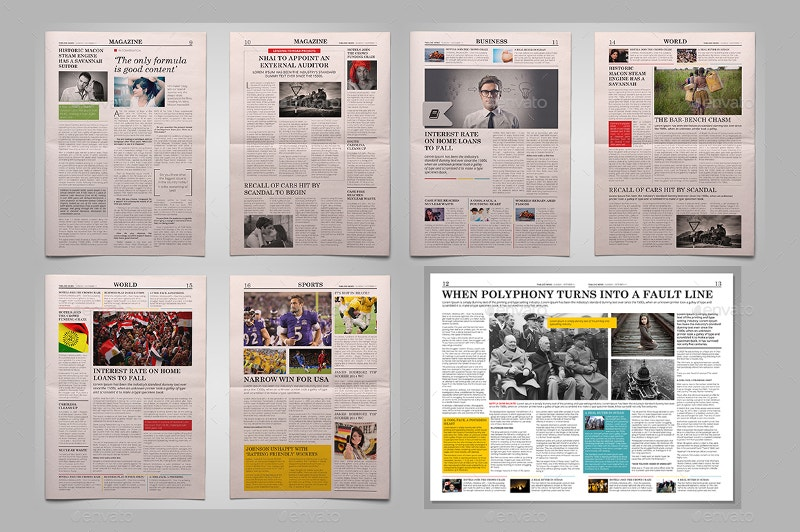 newspapers layout bundle