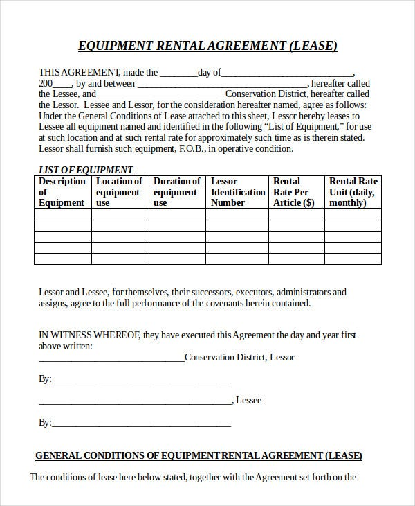 Doc565439 Rental Lease Agreements Lease Agreement Create a – Rental Lease Agreements