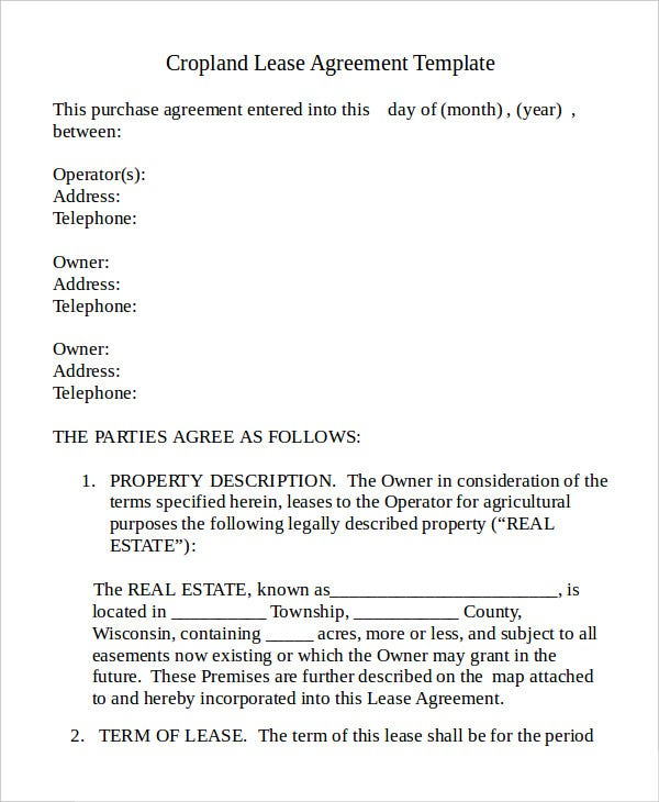 cropland-lease-agreement-template