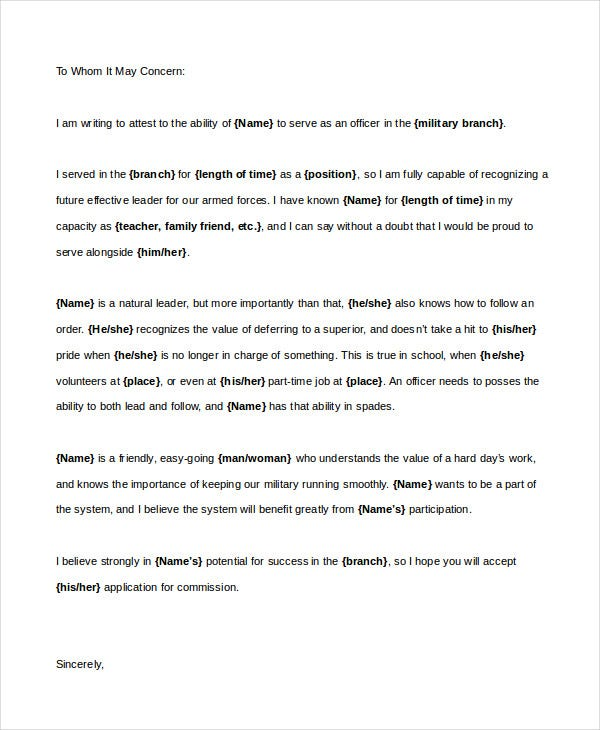 Character Reference Letter   Free Word Pdf Documents Download