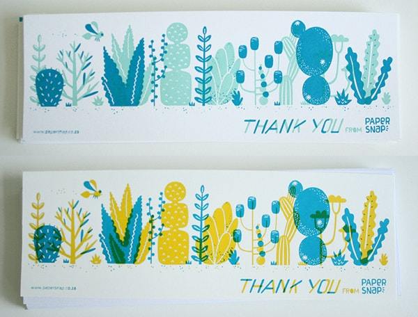 cool thank you card design to print