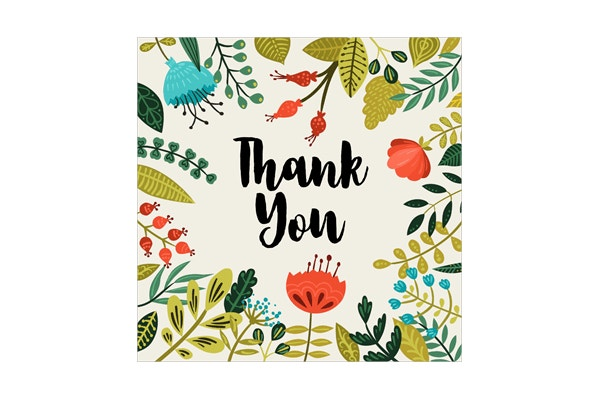 natural thank you greeting card