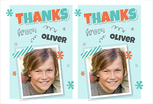 printable thank you card for kids