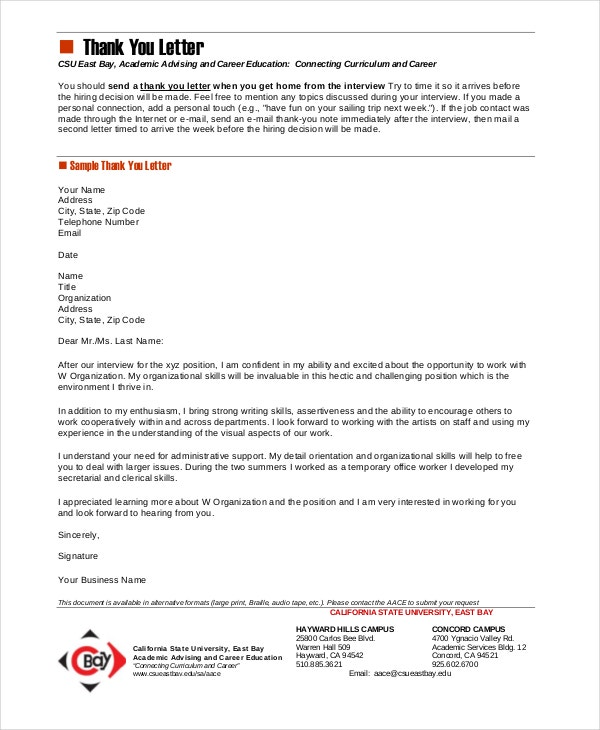 Marvelous 8 Interview Thank You Letters Free Sample Example Format Sample Post Phone  ... Awesome Ideas