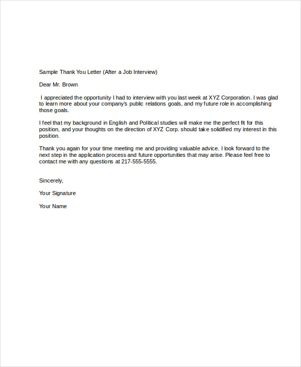 Post Teacher Interview Thank You Letter Sample  Cover Letter