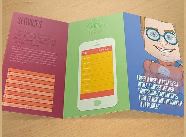 cartoon tri fold brochure template