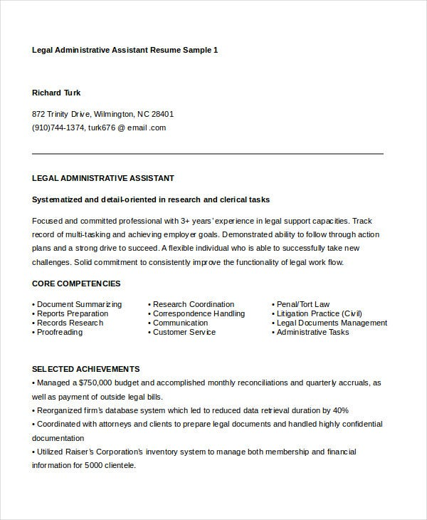 Administrative Assistant Resume - 16+ Free Word, PDF, PSD Documents Download