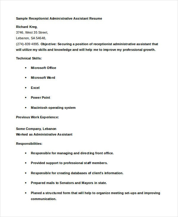 receptionist-administrative-assistant-resume