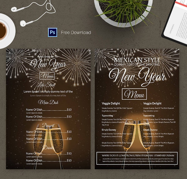 New Year Party Menu