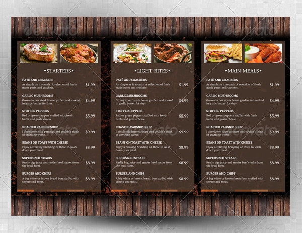 Menu Template - 21+ Free Psd, Eps, Ai, Indesign, Word, Pdf