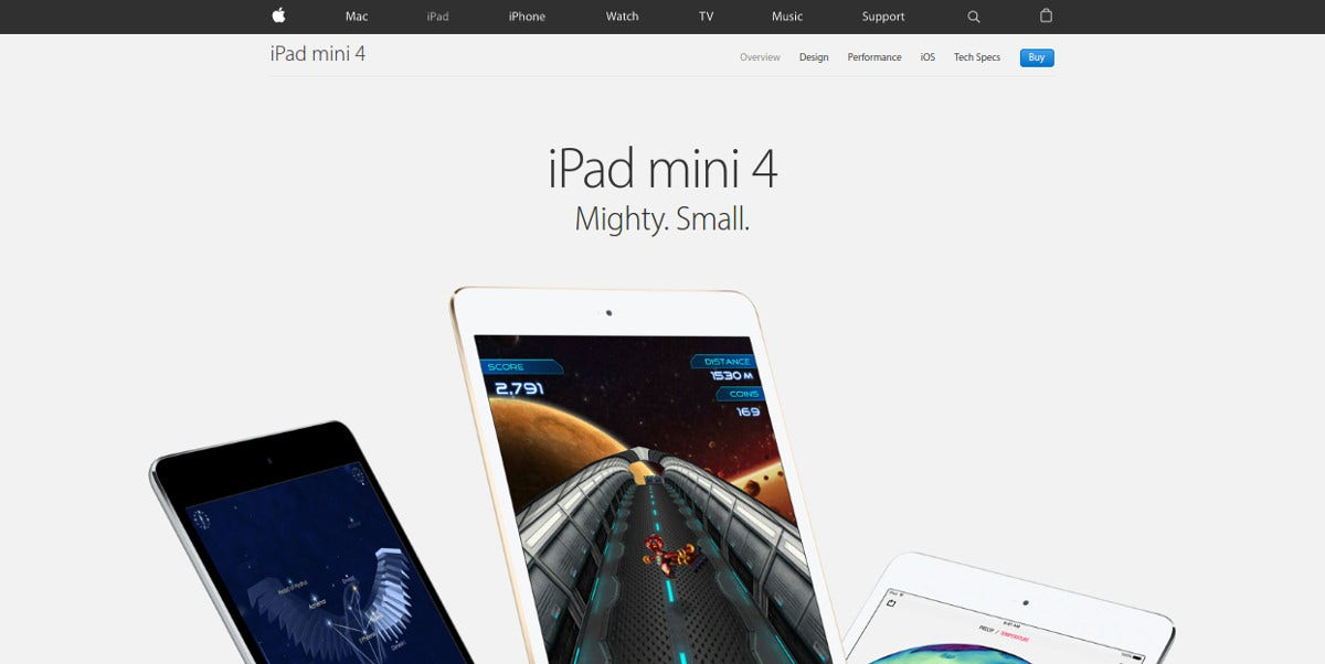 apple gadget minimalist website design 1
