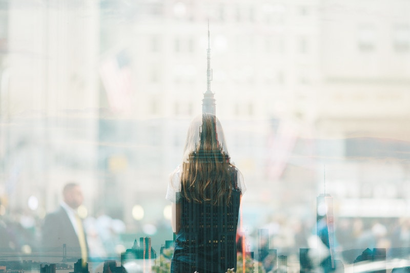 multiple-exposure-of-girl-skyline
