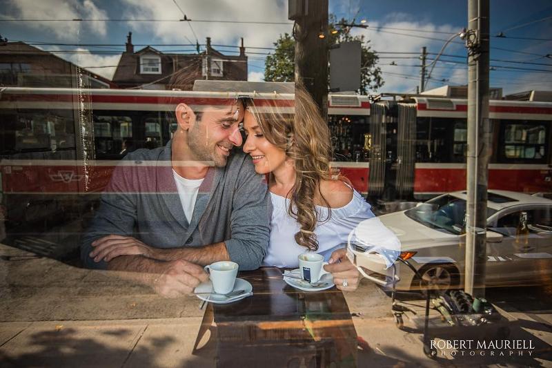 beautiful couple drinking tea