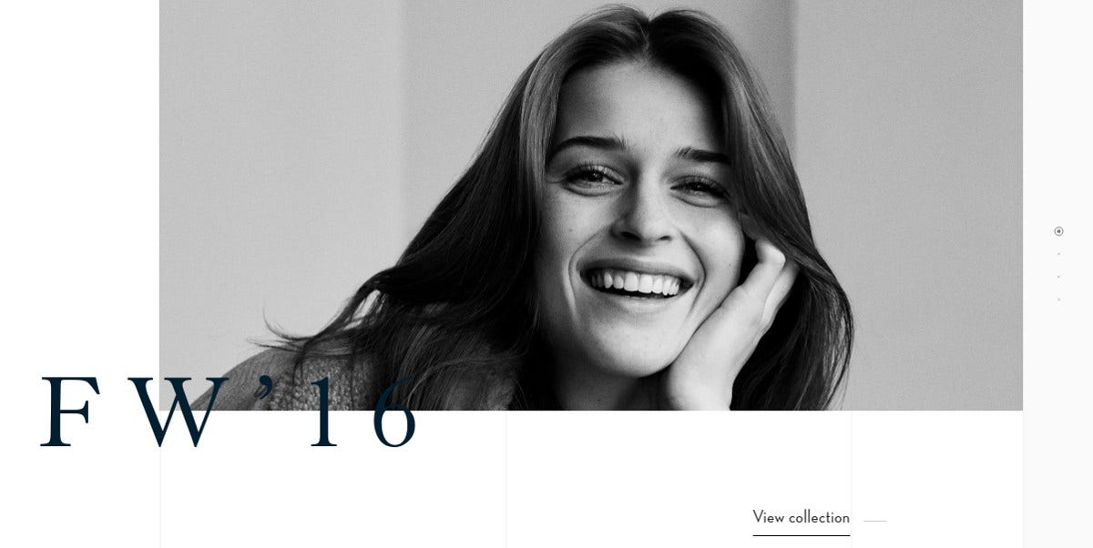 Fashion Minimalist Website Design