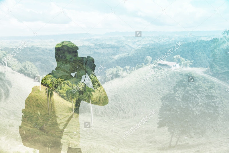 Landscape Travel Photography Double Exposure