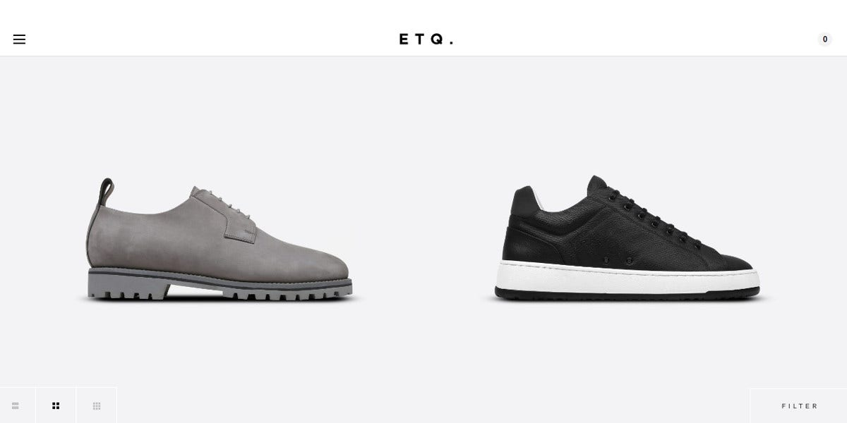 Responsive Shoe Store Minimalist Website Design