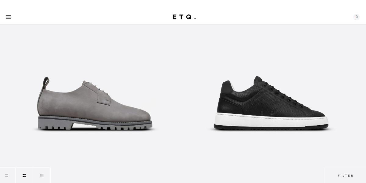 Responsive Shoe Store Minimalist Website Design