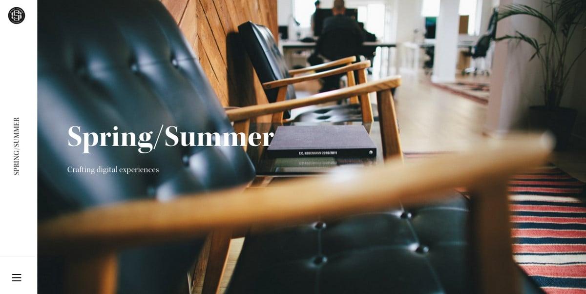 Furniture Minimalist Website Design